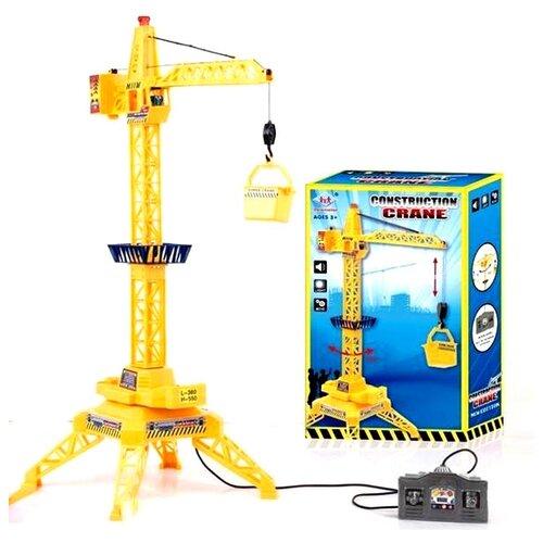 Купить Подъемный кран Delectation Toys Limited 9822 желтый, Радиоуправляемые игрушки