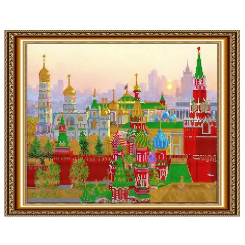 Светлица Набор для вышивания бисером Стены кремля 38 х 30 см (420)