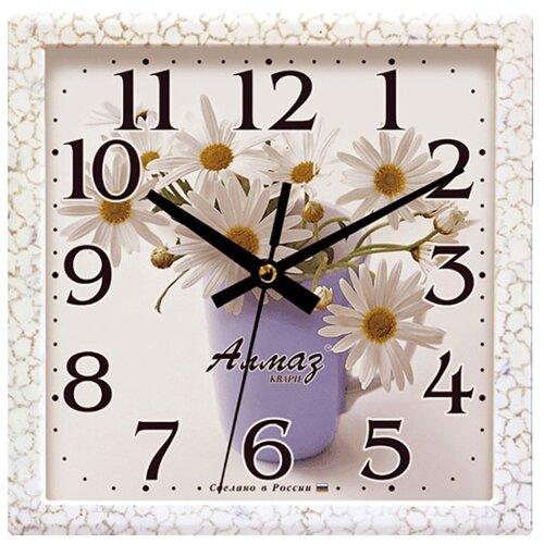Часы настенные кварцевые Алмаз M09 белый