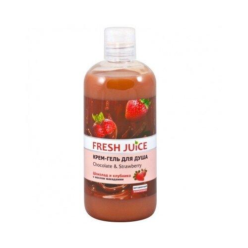 Фото - Крем-гель для душа Fresh Juice Chocolate & strawberry, 500 мл fresh juice сахарный скраб для тела chocolate and marzipan 225 мл