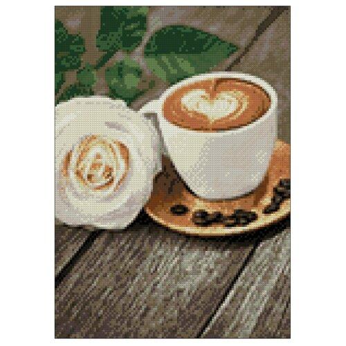 Фото - Гранни Набор алмазной вышивки Кофе и роза (Ag 228) 27х38 см гранни набор алмазной вышивки радужный слон ag 482 27х38 см