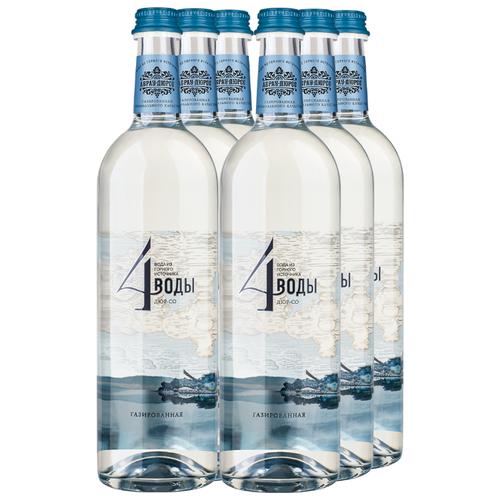 Вода питьевая Абрау-Дюрсо 4 воды Дюр-со газированная, стекло, 6 шт. по 0.75 лВода<br>