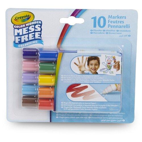 Купить Crayola Набор мини-маркеров Color Wonder, 10 шт. (75-2570), Фломастеры и маркеры