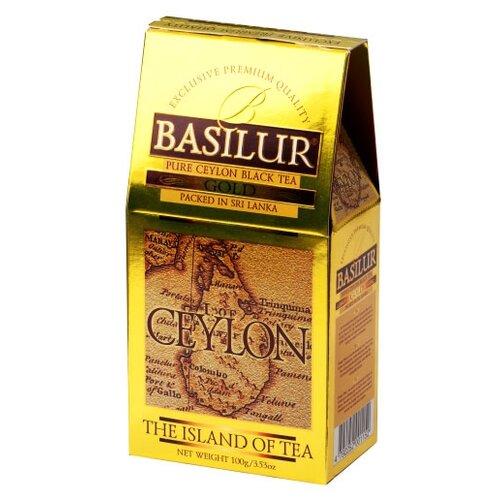 Чай черный Basilur The island of tea Ceylon Gold , 100 г basilur tea book v черный листовой чай 100 г жестяная банка