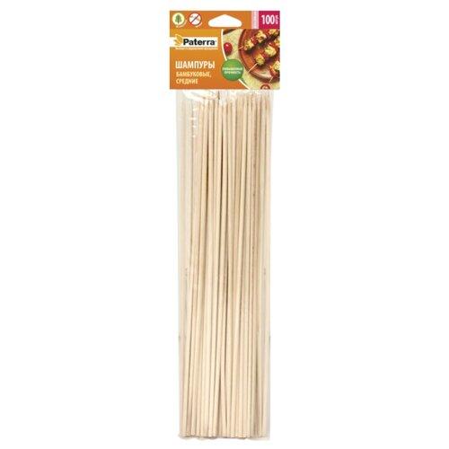 Набор шампуров Paterra 401-495, 25 см (100 шт.) зубочистки paterra деревянные с ментолом 1000 шт 401 558