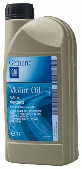 Моторное масло GENERAL MOTORS Dexos2 Longlife 5W30 1 л — купить по выгодной цене на Яндекс.Маркете