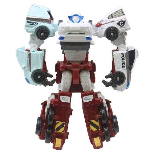 Купить Робот-трансформер YOUNG TOYS Tobot Mini Кватран 301057 красный/белый, Роботы и трансформеры