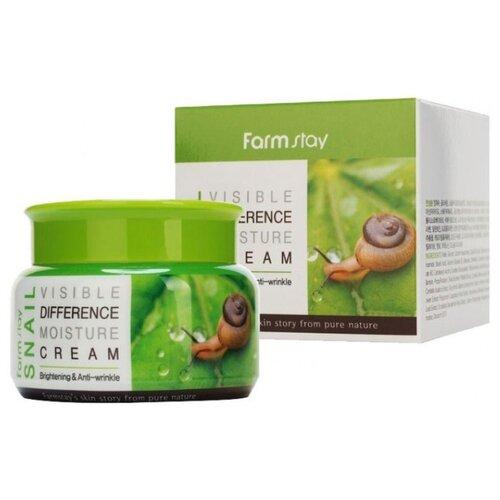 Farmstay Visible Difference Moisture Cream Snail Увлажняющий крем для лица с улиточным муцином, 100 мл