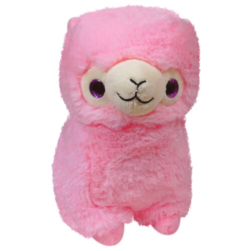 Мягкая игрушка Keel toys лама, 22 см, розовая