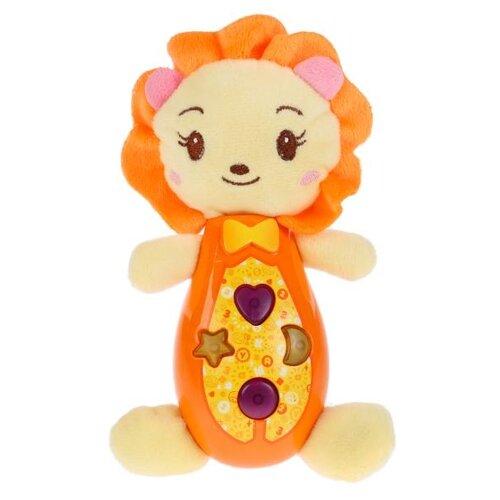 Купить Развивающая игрушка Умка Музыкальный львенок бежевый/оранжевый, Развивающие игрушки