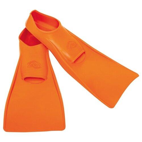 Ласты с закрытой пяткой Flipper SwimSafe детские из натуральной резины оранжевый 30-33