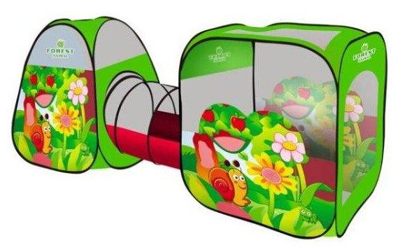 Палатка Наша игрушка Веселая улитка комплекс из 2 палаток с туннелем SG7015-B