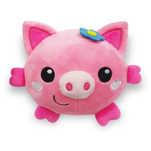 Развивающая игрушка Азбукварик Люленьки Плюшики Свинка розовый фото