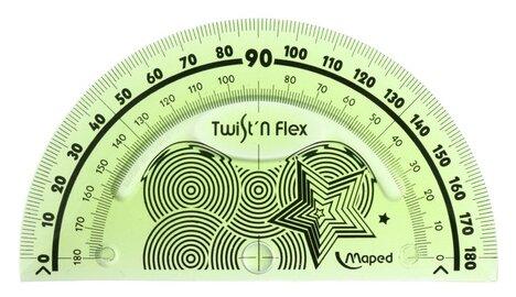 Maped Транспортир Twist'n Flex 180°,10 см (279810)