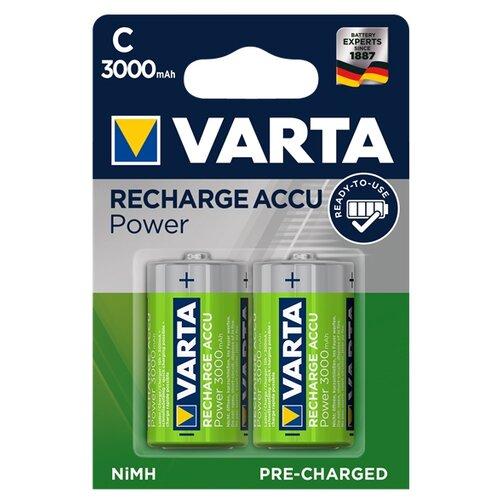Фото - Аккумулятор Ni-Mh 3000 мА·ч VARTA Recharge Accu Power 3000 C 2 шт блистер аккумулятор ni mh 2600 ма·ч varta recharge accu power 2600 aa 4 шт блистер