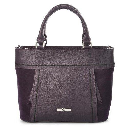 Сумка тоут Afina, натуральная кожа, фиолетовый сумка afina afina af004bwssy21
