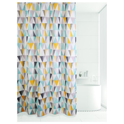Штора для ванной Bath Plus Triangular scrawl 180х180 мыльница bath plus bath plus mp002xu02qo3