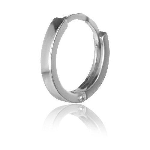 TOP CRYSTAL Одиночная серьга-кольцо серебряная 40455377