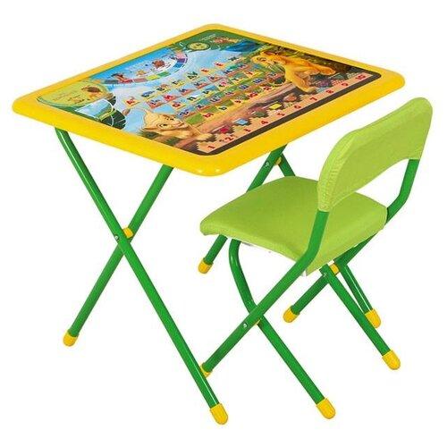 Купить Комплект ДЭМИ стол + стул Disney Funny Король Лев (к3-06) зеленый, Парты и столы