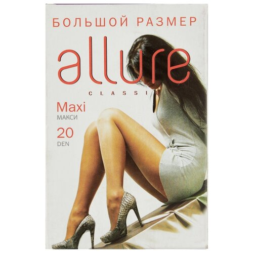 Фото - Колготки ALLURE Classic Maxi 20 den, размер 6, glase (золотистый) колготки allure classic support 30 den размер 5 glase золотистый