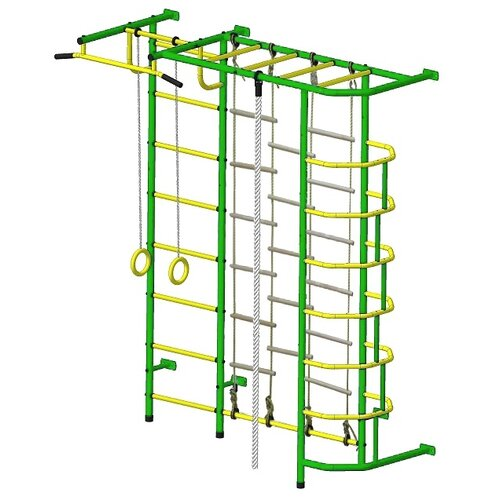 Купить Спортивно-игровой комплекс Пионер С5ЛМ зеленый/желтый, Игровые и спортивные комплексы и горки