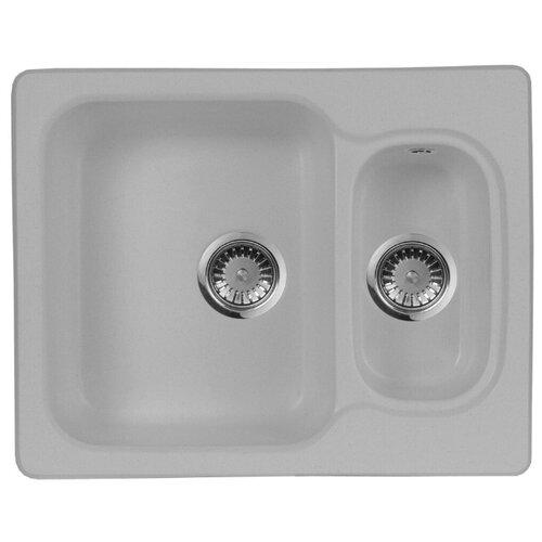 Фото - Врезная кухонная мойка 61 см А-Гранит M-09 серый врезная кухонная мойка 61 см а гранит m 09 песочный
