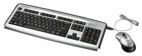 Клавиатура и мышь GIGABYTE GK-9PB Silver-Black USB+PS/2
