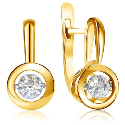 Бронницкий Ювелир Серьги из желтого золота RD56319004000 бронницкий ювелир серьги из желтого золота ю1e27689r