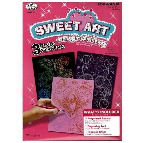 Купить Гравюра Royal & Langnickel Sweet Art. Engraving Art 3 штуки (SART-102) цветная основа, Гравюры