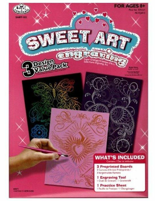 Гравюра Royal & Langnickel Sweet Art. Engraving Art 3 штуки (SART-102) цветная основа