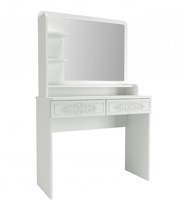 Купить Туалетный столик с зеркалом Ассоль Лайт ТСН-2 по низкой цене с доставкой из Яндекс.Маркета (бывший Беру)