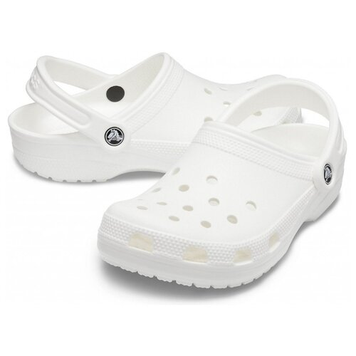 сабо женские crocs classic mammoth luxe цвет черный 204211 001 размер m7 w9 39 40 Сабо Crocs Classic, размер 38-39(M6/W8), white