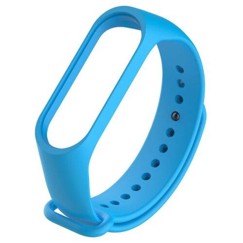 Ремешок силиконовый Titan для фитнес браслета Xiaomi Mi Band 5 голубой