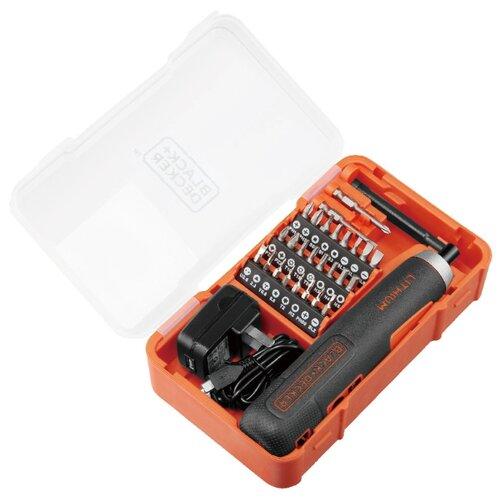 Аккумуляторная отвертка BLACK+DECKER BD40K27 аккумуляторная отвертка black decker cs3651lc