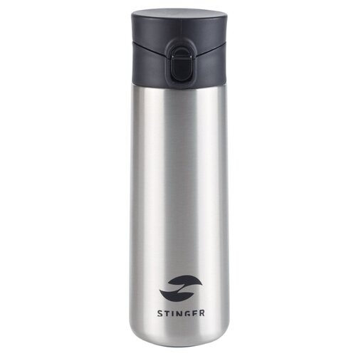 Термокружка Stinger, 0,35 л, сталь/пластик, серебристый, 6,6 x 6,4 x 20,3 см