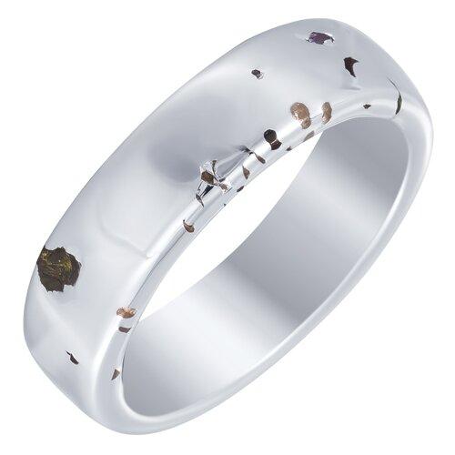 ELEMENT47 Широкое ювелирное кольцо из серебра 925 пробы с кубическим цирконием SR2425_KO_002_WG, размер 17