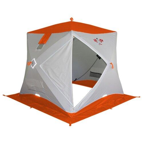 Палатка pinguin ПРИЗМА Шелтерс однослойная белый/оранжевый палатка рыбака пингвин призма сиберия четырехслойная