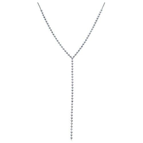 ELEMENT47 Колье из серебра 925 пробы с фианитами SS00305N_KL_001_WG, 60 см