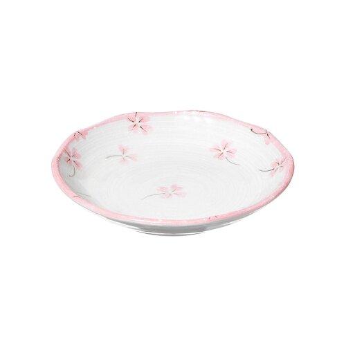AI LIFE Тарелка Розовый клевер 13 см белый/розовый