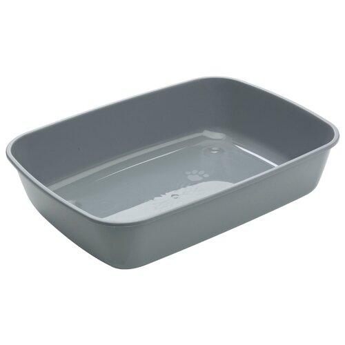 Туалет-лоток для кошек SAVIC Iriz L 50х36.5х11.5 см серыйТуалеты и аксессуары для кошек<br>