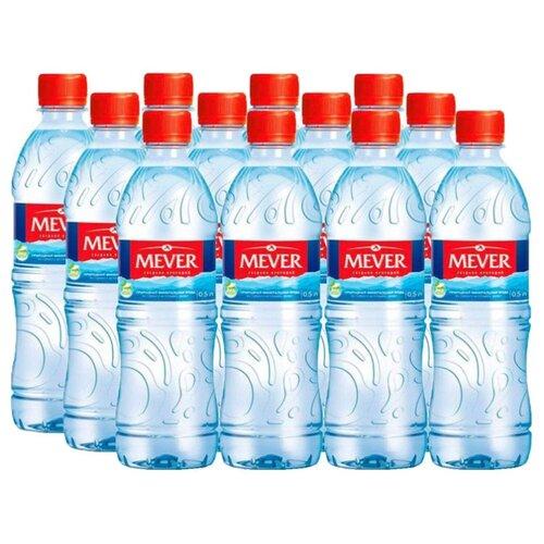 Вода минеральная питьевая природная столовая Мевер негазированная, ПЭТ, 12 шт. по 0.5 лВода<br>