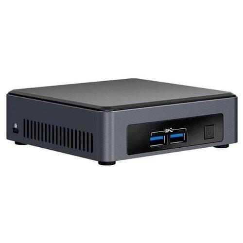 Купить Платформа Intel NUC (NUC7I5DNK2E) Intel Core i5-7300U/без ОЗУ/Intel HD Graphics 620/ОС не установлена серый/черный