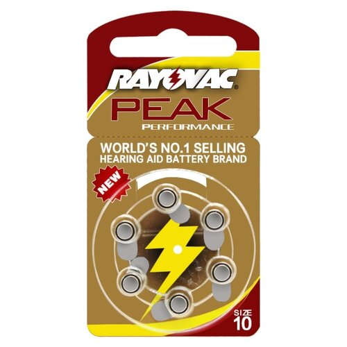 Фото - Батарейка RAYOVAC Peak ZA10, 6 шт. батарейка rayovac extra za312 6 шт