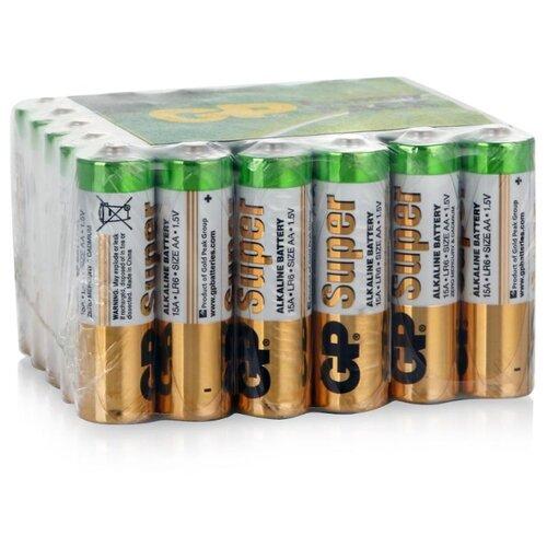 Фото - Батарейка GP Super Alkaline AA 30 шт пленка батарейки gp super alkaline lr03 30 шт gp 24a b30