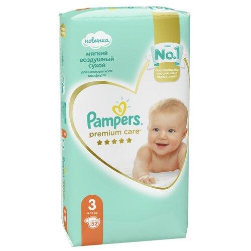 Купить Pampers подгузники Premium Care 3 (6-10 кг) 52 шт., Подгузники