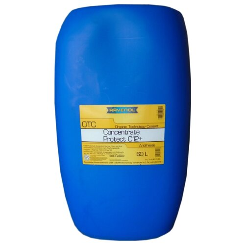 Антифриз Ravenol OTC Organic Technology Coolant Concentrate 60 л антифриз ravenol hjc hybrid japanese coolant premix 40°c готовый цвет зеленый 5 л