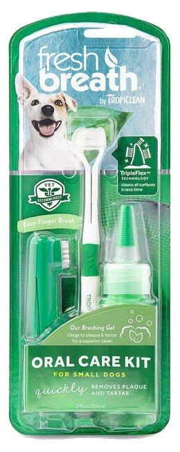 Комплект Tropiclean Fresh Breath для ухода за зубами для собак мини-пород