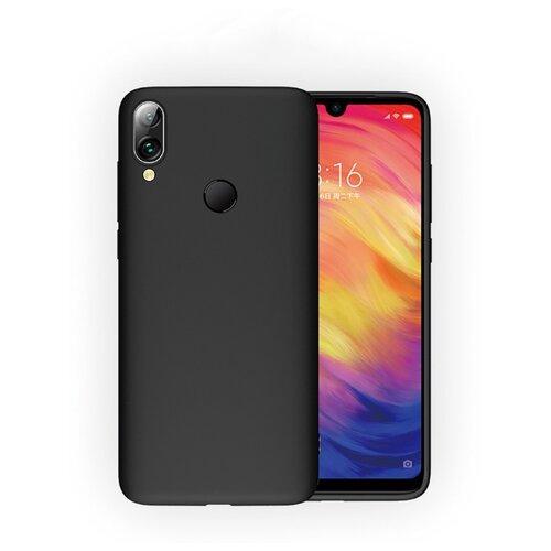 Фото - Силиконовый матовый непрозрачный чехол с нескользящим софт-тач покрытием для Xiaomi RedMi 7 черный защитный чехол pero для xiaomi redmi 5 софт тач черный