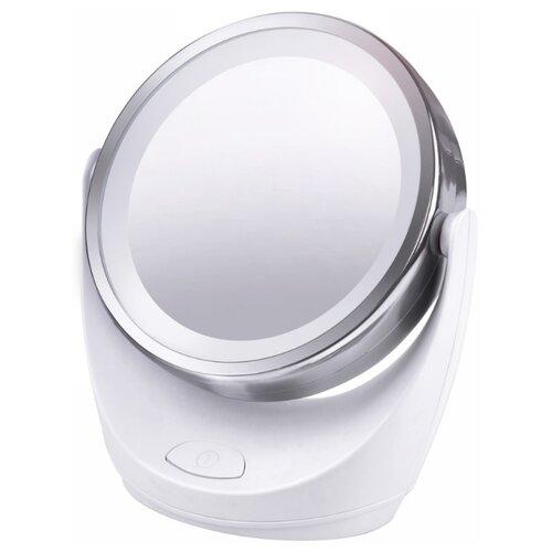 Зеркало косметическое настольное MARTA MT-2648 с подсветкой белый жемчуг