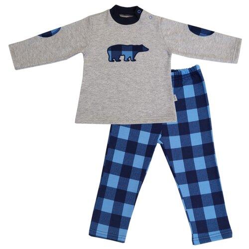 Комплект одежды Папитто размер 86, серый/синий